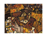 Crescent of Houses (The Small City V), 1915 Prints by Egon Schiele