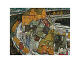Crescent of Houses II (Island Town), 1915 Print by Egon Schiele