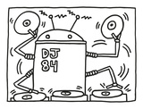 DJ 84, 1983 Prints by Keith Haring