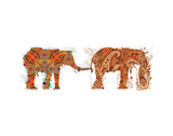 Elephants Walking Art by Teofilo Olivieri