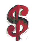 Andy Warhol - Dollar Sign, 1981 (red) Umělecké plakáty