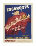 Escargots Menetrel Posters
