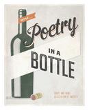 Poetry in a Bottle Print by Luke Stockdale