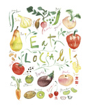 Eat Local Prints by Lucile Prache