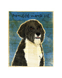 Portuguese Water Dog Prints by John W. Golden