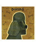 Poodle (black) (square) Posters by John W. Golden