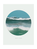 Inspirational Circle Design - Ocean Waves: Beach Bound Giclee Print by  michaeljung