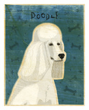 Poodle (white) Art by John W. Golden