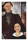 Portrait of Jacques & Berthe Lipchitz Posters by Amedeo Modigliani