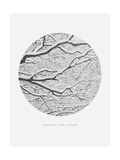 Inspirational Circle Design - Snowy Branches: Weather the Storm Giclee Print by  WizData