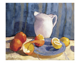 Pitcher with Tangelos and Lemons Prints by Tony Saladino