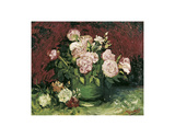Roses and Peonies, 1886 Poster von Vincent van Gogh