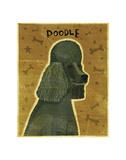 Poodle (black) Prints by John Golden