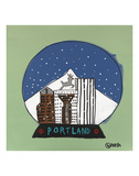 Portland Snow Globe Posters by Brian Nash