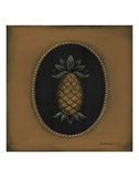 Pineapple 04 Posters by Barbara Jeffords