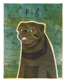 Pug (black) Prints by John W. Golden