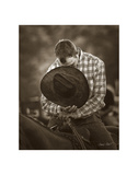 Praying Cowboy Print by Barry Hart