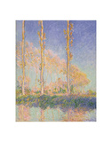 Poplars (Autumn), 1891 Poster by Claude Monet