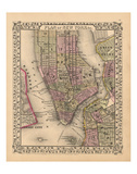 Plan of New York City, 1867 Poster by  Ward Maps