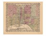 Plan of Philadelphia, 1867 Print by  Ward Maps