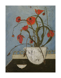 Poppies on Pastry Cart Posters by Karen Tusinski