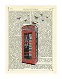 Red Telephone Box Art by Marion Mcconaghie