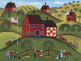 Red Apple Barn Posters by Cheryl Bartley