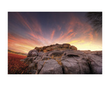Rock Wall Sunset Posters by Bob Larson