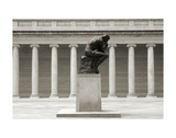 Rodin's Thinker in Profile Print by Christian Peacock