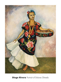 Portrait of Dolores Olmedo Prints by Diego Rivera