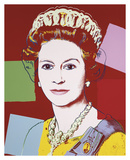 Reigning Queens: Queen Elizabeth II of the United Kingdom, 1985 (dark outline) Print by Andy Warhol
