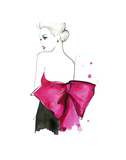 Pink Bow Art by Jessica Durrant