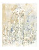 Shades of White Chandelier Print by Amy Dixon