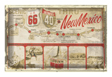 Scenic US 66 thru New Mexico Prints by  Vintage Vacation