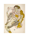 Seated Couple, 1915 Poster by Egon Schiele
