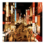 Shinjuku Neons, Tokyo Art by Marcin Stawiarz