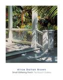 Small Glittering Porch Print by Alice Dalton Brown