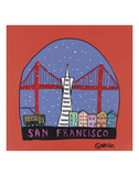 San Francisco Snow Globe Prints by Brian Nash