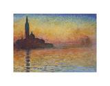San Giorgio Maggiore ao anoitecer, 1908 Pôsters por Claude Monet