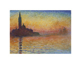 San Giorgio Maggiore at Dusk, 1908 Posters by Claude Monet