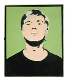 Self-Portrait, 1964 (on green) Giclee Print by Andy Warhol