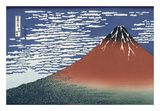 Red Fuji Posters by Katsushika Hokusai