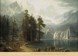 Sierra Nevada Plakat af Albert Bierstadt