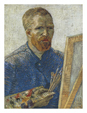 Self Portrait in Front of Easel Art by Vincent van Gogh