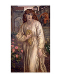 Salutation of Beatrice, 1880-82 Art by Dante Gabriel Rossetti