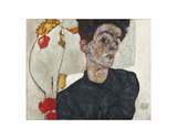 Self-Portrait with Physalis, 1912 Prints by Egon Schiele