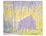 Saltbox Barn Art by Wolf Kahn