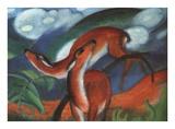 Red Deer II Print by Franz Marc