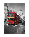 Red Bus London Poster af Christopher Bliss