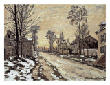 Road at Louveciennes, Melting Snow, Sunset Posters by Claude Monet